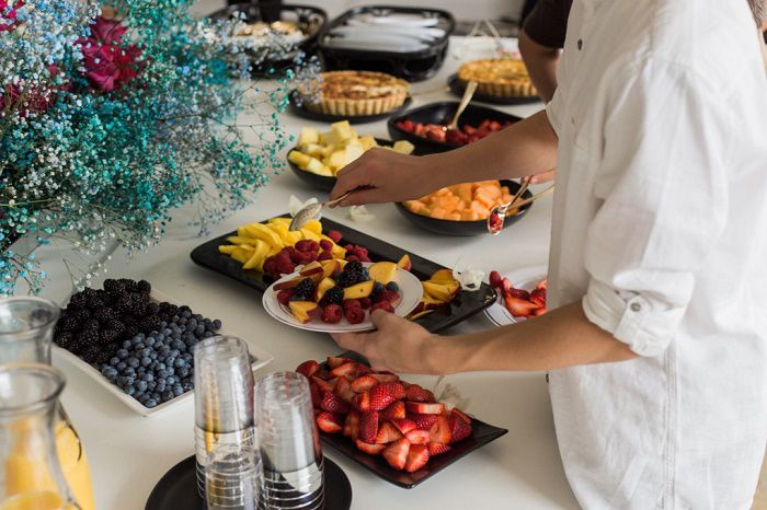 Buffet breakfast at a hotel offering a Staycation deal in the Gold Coast