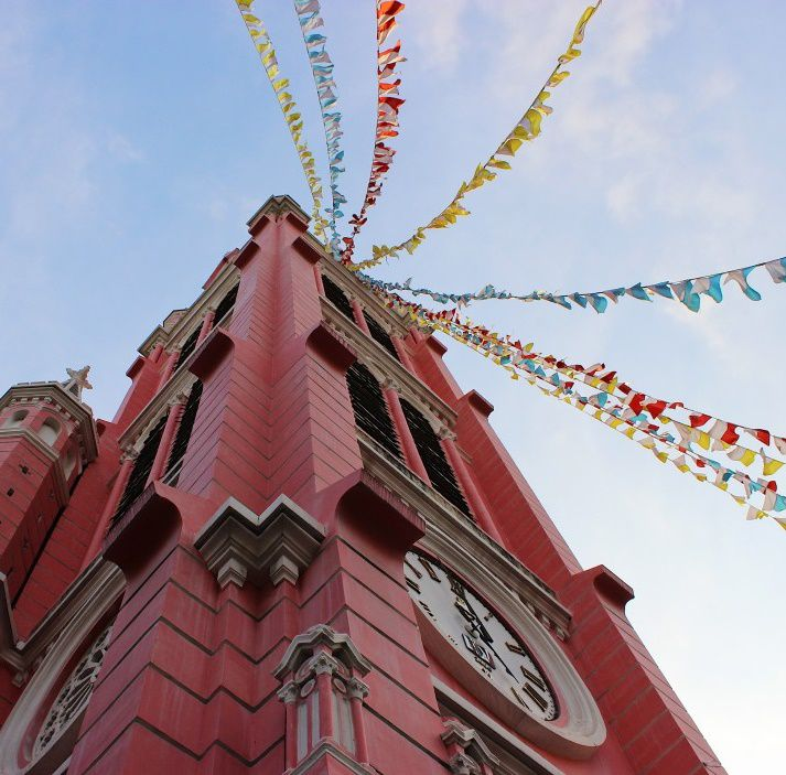 Walking tour church stop during a Staycation in Ho Chi Minh City